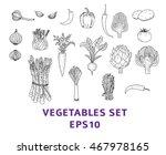 vegetables set. hand drawn... | Shutterstock .eps vector #467978165