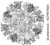 contoured victorian garden... | Shutterstock .eps vector #467987864