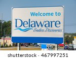 Welcome To Delaware Road Sign...