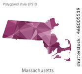massachusetts state map in... | Shutterstock .eps vector #468005519