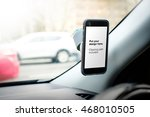 photo of smart phone in the car ... | Shutterstock . vector #468010505