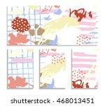 abstract vector templates. set... | Shutterstock .eps vector #468013451