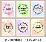 vector collection of colorful... | Shutterstock .eps vector #468015485