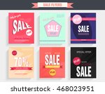 set sale poster with percent... | Shutterstock .eps vector #468023951