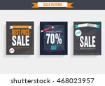 set sale poster with percent... | Shutterstock .eps vector #468023957