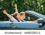happy young couple enjoying... | Shutterstock . vector #468028511