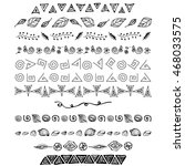 set of vector hand drawn... | Shutterstock .eps vector #468033575