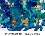 marbled blue abstract... | Shutterstock . vector #468034481