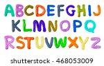 handmade plasticine alphabet...   Shutterstock . vector #468053009