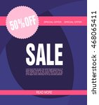 sale poster with percent... | Shutterstock .eps vector #468065411