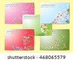 vector set lotus and koi for... | Shutterstock .eps vector #468065579