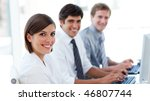 enthusiastic business people...   Shutterstock . vector #46807744