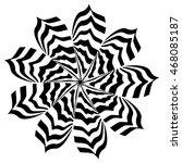 zebra striped flower | Shutterstock .eps vector #468085187