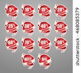 set of red stickers for... | Shutterstock .eps vector #468085379
