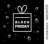 black friday poster. white... | Shutterstock .eps vector #468104555