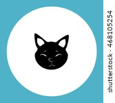 cat vector icon and animal... | Shutterstock .eps vector #468105254