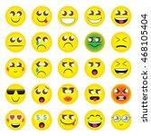 emoji. emoticons smile icon set.... | Shutterstock .eps vector #468105404