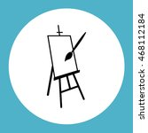 easel vector icon | Shutterstock .eps vector #468112184