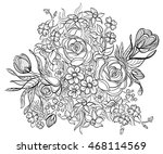 hand drawn ink pattern.... | Shutterstock . vector #468114569
