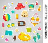 stickers with collection of... | Shutterstock .eps vector #468118859