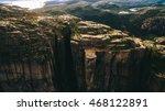 cliff preikestolen at fjord...   Shutterstock . vector #468122891