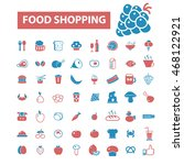 food shopping icons | Shutterstock .eps vector #468122921