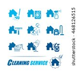 set of icons for cleaning... | Shutterstock .eps vector #468126515