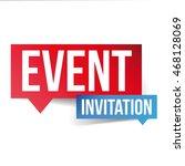 event invitation label sign | Shutterstock .eps vector #468128069
