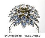 3d illustration of gold ring... | Shutterstock . vector #468129869