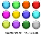 glossy buttons with shadow | Shutterstock .eps vector #46813138