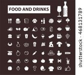 food   drinks icons | Shutterstock .eps vector #468131789