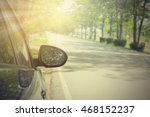 black car on asphalt road in... | Shutterstock . vector #468152237