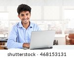 young asian indian businessman... | Shutterstock . vector #468153131