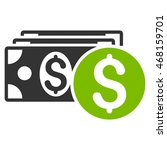 dollar cash icon. vector style...   Shutterstock .eps vector #468159701