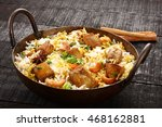 famous indian fish biriyani... | Shutterstock . vector #468162881