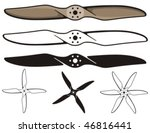 Airplane Propellers. Vector...