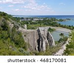 view from scarborough bluffs to ... | Shutterstock . vector #468170081