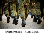soldiers march in formation ... | Shutterstock . vector #46817356