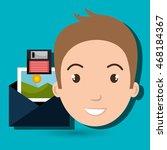 man envelope floppy photo... | Shutterstock .eps vector #468184367