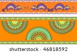 pattern with chameleons and... | Shutterstock .eps vector #46818592