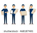 full length portrait of... | Shutterstock .eps vector #468187481
