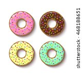 set of ring shaped donuts...   Shutterstock .eps vector #468188651