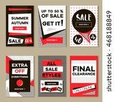 media banners for online... | Shutterstock .eps vector #468188849