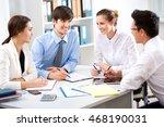 business people having meeting... | Shutterstock . vector #468190031