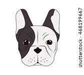flat design french bulldog icon ... | Shutterstock .eps vector #468199667