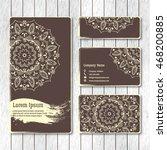 set of templates business ... | Shutterstock .eps vector #468200885