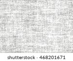 Distressed overlay texture of weaving fabric. grunge background. abstract halftone vector illustration | Shutterstock vector #468201671