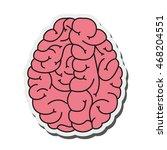 flat design human brain cartoon ... | Shutterstock .eps vector #468204551