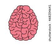 flat design human brain cartoon ... | Shutterstock .eps vector #468204641