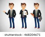 elegant people businessman | Shutterstock .eps vector #468204671